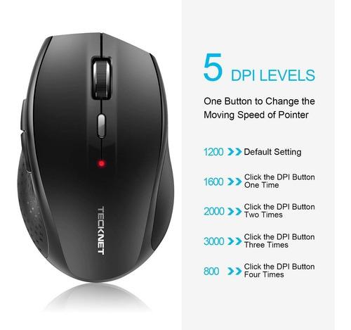 mouse bluetooth - tecknet - 5 niveles dpi - excelente