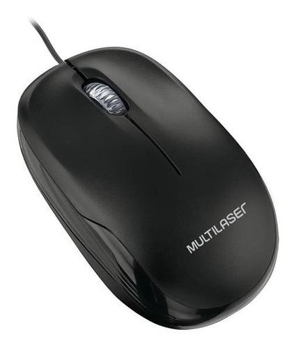 mouse box optico preto usb multilaser - mo255 envio já