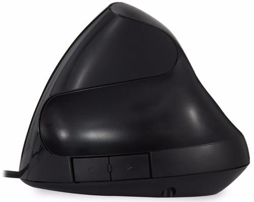 mouse com fio ótico vertical ergonômico 5 teclas preto