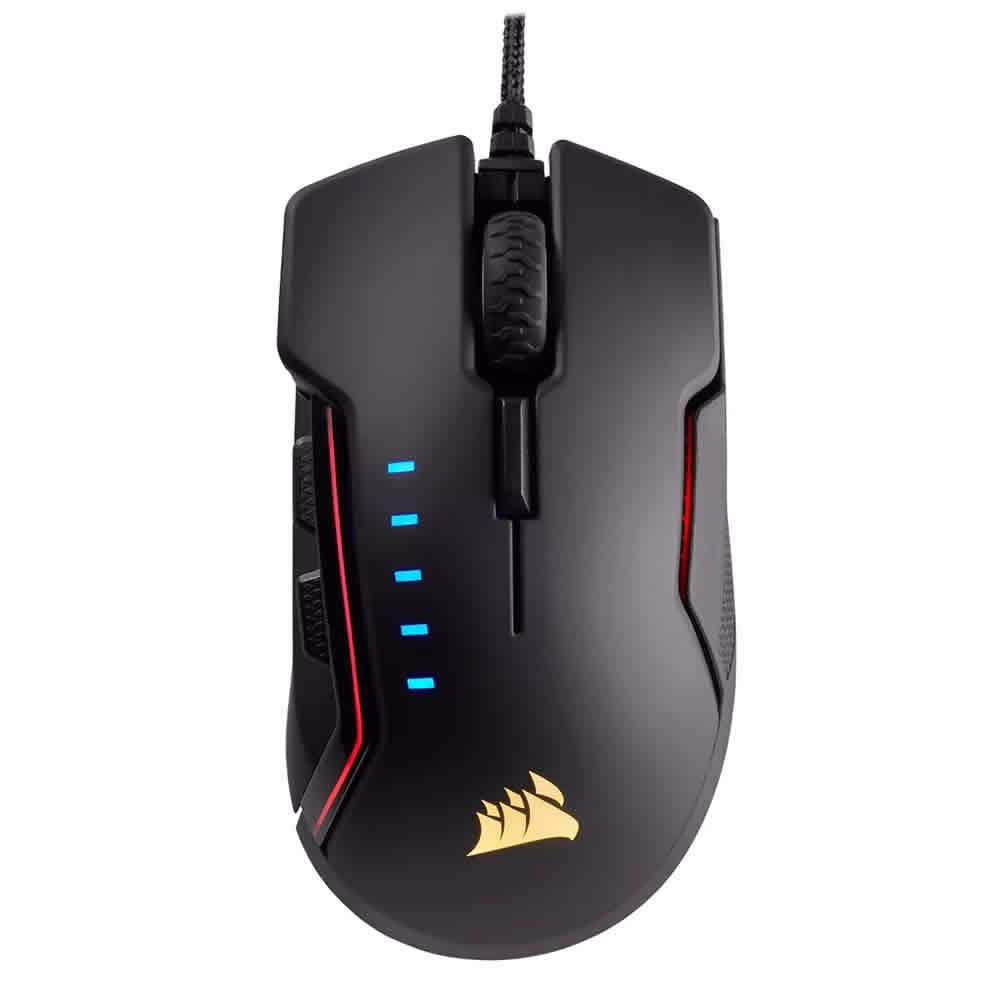 Mouse Corsair Gaming Glaive Rgb 16000 Dpi Black
