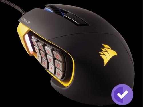 mouse corsair scimitar pro rgb moba yellow
