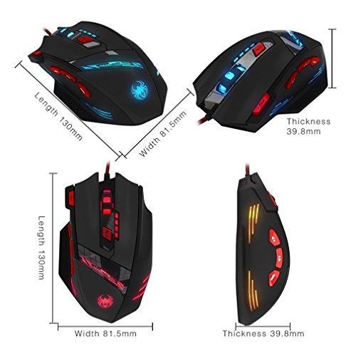 mouse de juegos zelotes t90, profesional, 9200 dpi, alta