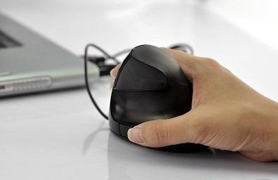 mouse ergonômico vertical contr tendinite 5 teclas de função