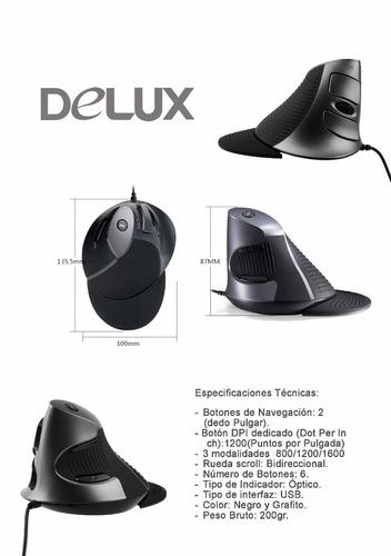 mouse ergonomico delux