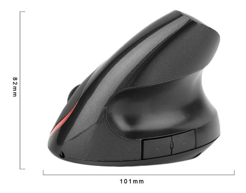 mouse ergonómico inalambrico vertical óptico recargable port
