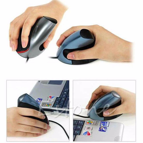 mouse ergonomico ortopedico vertical para pc portatil usb
