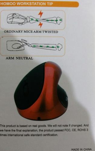 mouse ergonómico vertical mini usb laptop pc tunel carpiano