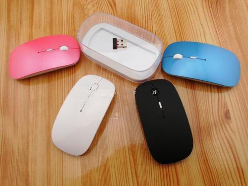 mouse flat inalambrico colores mini receptor usb mac