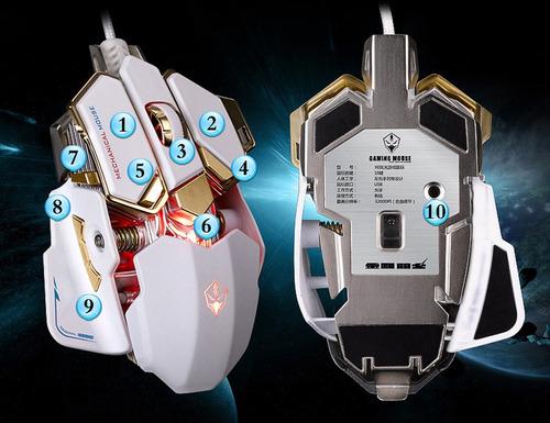 mouse gamer 10 botones 4000 dpi luom g10 macros programable