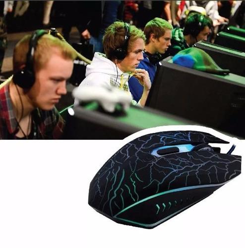 mouse gamer 1600 dpi, 6 botones ergonomico cambia de colores