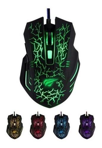 mouse gamer, 3200 dpi, 6 buttons, led, optical hv-ms672