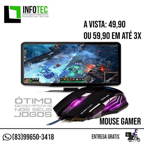 mouse gamer 3200 dpi + mousepad gratis