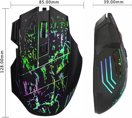 mouse gamer 5500 dpi 7 botones led usb alambrico