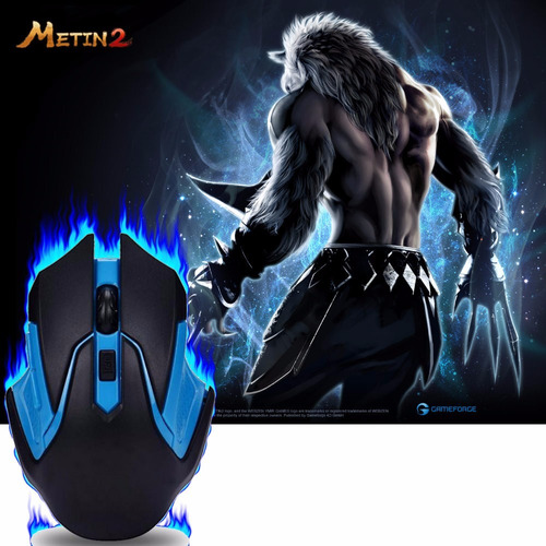 mouse gamer 6 botones color video juegos oferta 2018