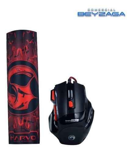 mouse gamer 6d + mouse pad, scorpion modelo m315+g1