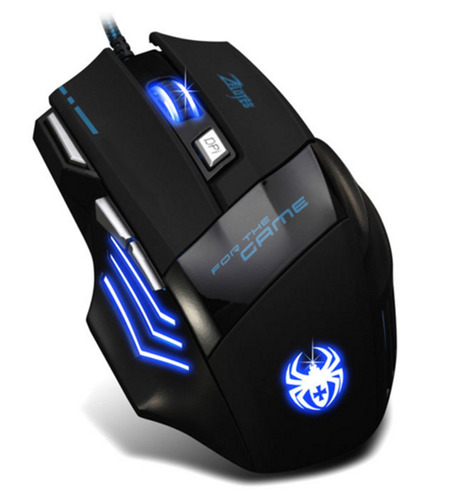 mouse gamer 7 botones 7200 dpi doble click cambia color e/g