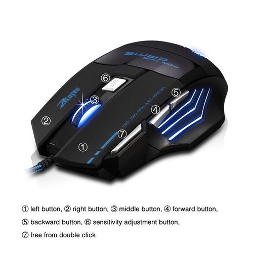 mouse gamer 7 botones 7200 dpi video juegos cambia colores