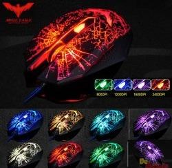 mouse gamer 7 luces de colores hasta 2400dpi 1.6mts havit