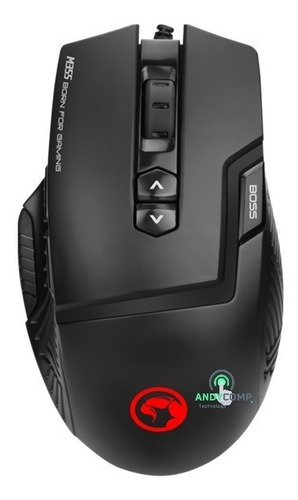 mouse gamer 9 botones marvo m355+pad mouse g1 gaming