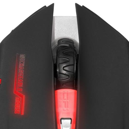 mouse gamer alien inalámbrico recargable  led itelsistem