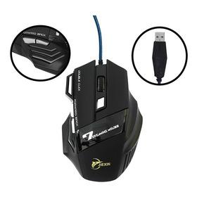 Mouse Gamer Com Fio 4000dpi Usb 7 Botões Led Colorido X@