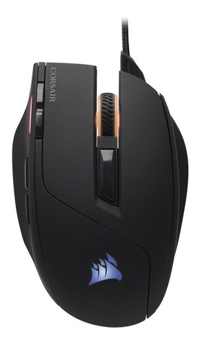 mouse gamer corsair sabre rgb 10000 dpi black con cable htg