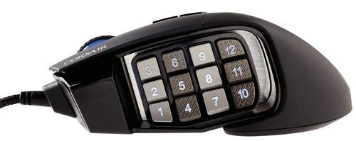 mouse gamer corsair scimitar rgb optical moba/mmo ch-9000231