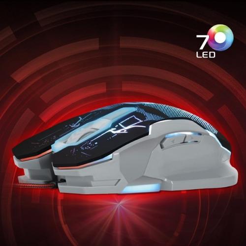 mouse gamer cybertel police + cyb m501 led usb