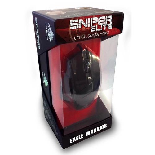 mouse gamer eagle warrior sniper elite led + mousepad usb