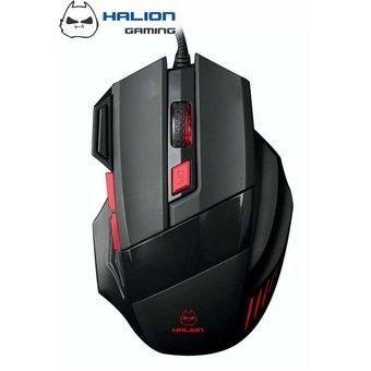 mouse gamer halion ha-m927 negro/rojo
