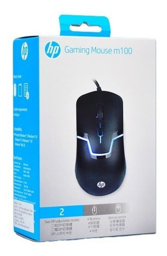 mouse gamer hp m100 laptop pc