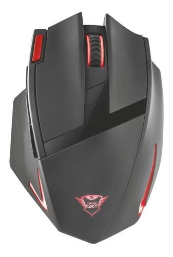 mouse gamer inalámbrico trust gxt 130, 9 botones / luz led