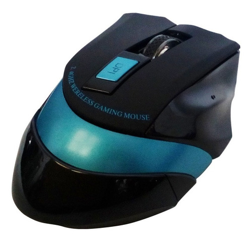 mouse gamer inalámbrico wx-09 2400 dpi - azul