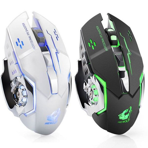 mouse gamer inalambrico x8 fox recargable