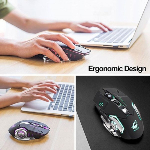 mouse gamer inalambrico y recargable