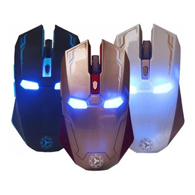 Mouse Gamer Iron Man Inalambrico Gaming Optico Luz Marvel