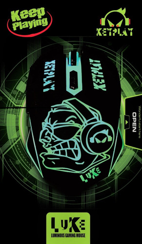 mouse gamer keyplay led 7 colores 6 botones gaming mouse