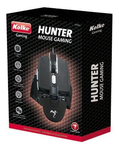 mouse gamer kolke hunter base metálica luz led oferta loi