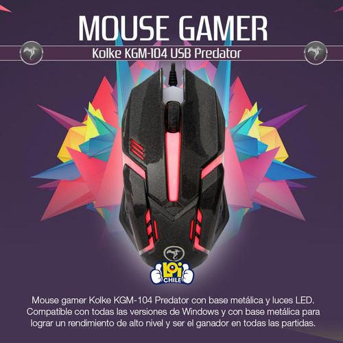 mouse gamer kolke predator kmg-104 usb