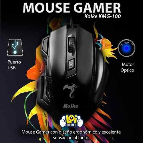 mouse gamer kolke profesional led nuevo modelo en loi chile