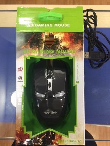 mouse gamer láser 3200 dpi led iron man weibo wb-1619usb
