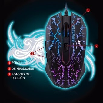 mouse gamer led player - mic m662