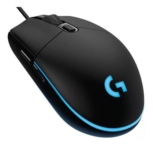 mouse gamer logitech g203 prodigy pc ps4 rgb 8000 dpi usb