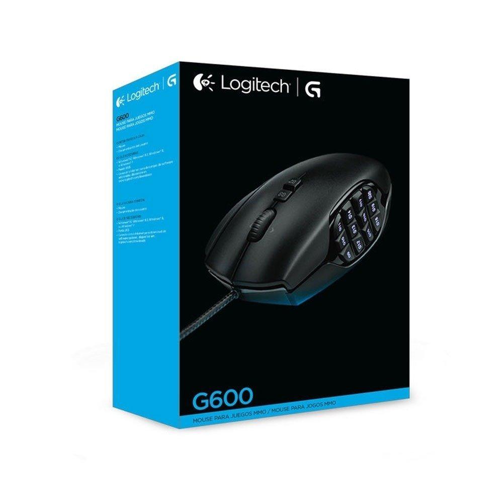 Mouse Gamer Logitech G600 Mmo Usb 8 200dpi