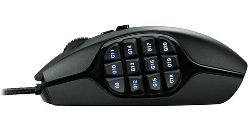 mouse gamer logitech g600 rgb, macrotec