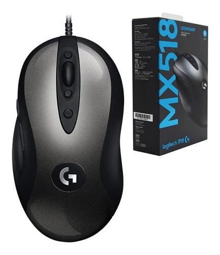 mouse gamer logitech mx518 6400 dpi 8 botones / lhua store
