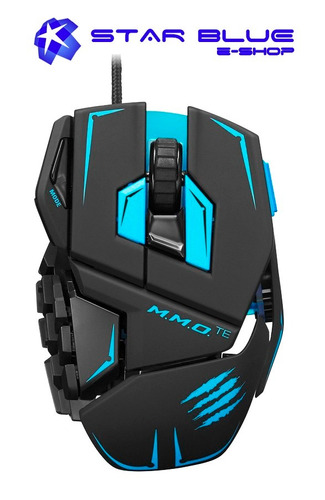 mouse gamer mad catz cyborg mmo te tournament edition negro