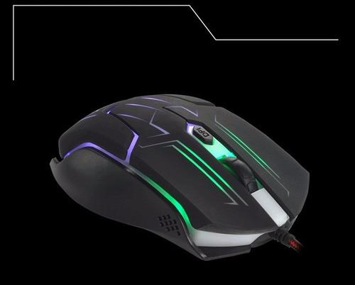 mouse gamer multicolor led - 7 botones - 1600 dpi