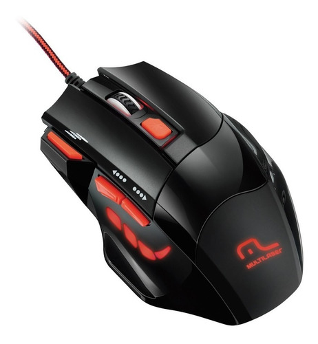 mouse gamer multilaser usb 2400dpi preto mo236