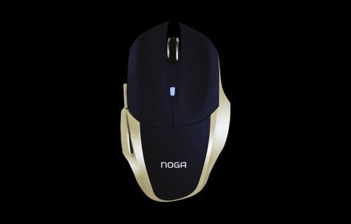 mouse gamer noga kronos premium led dorado usb